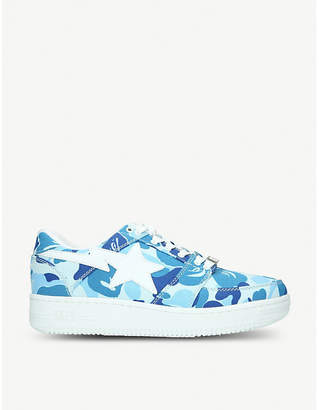 A Bathing Ape BAPE STA camouflage-print canvas trainers
