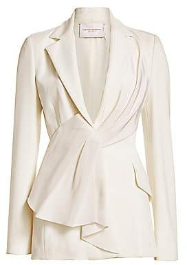 Carolina Herrera Women's Asymmetric Draped Ruffle Jacket