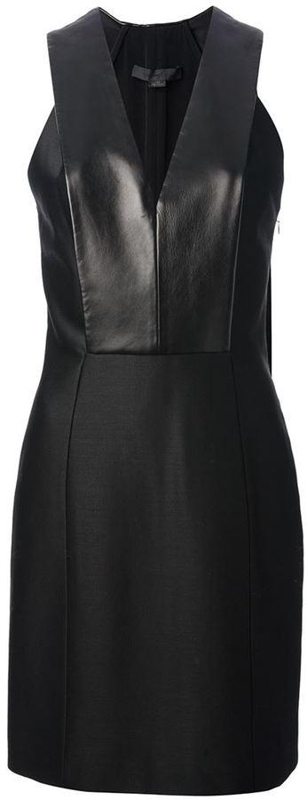 Alexander Wang leather bib dress