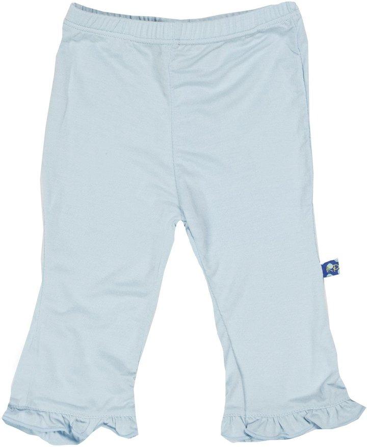 Green Baby KicKee Pants Ruffle Pants - Bark-0-3 M