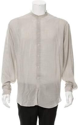 Giorgio Armani Mandarin Collar Silk Shirt