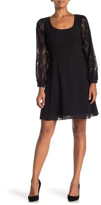 Nanette Lepore NANETTE Lace Bishop Sleeve Dress