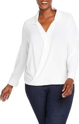 Foxcroft Claudette Wrap Top