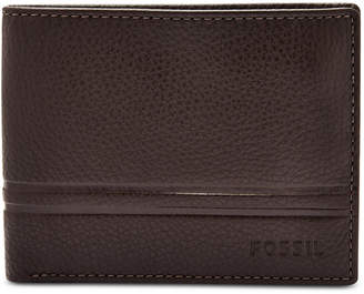 Fossil Men Wilder Bifold Leather Wallet