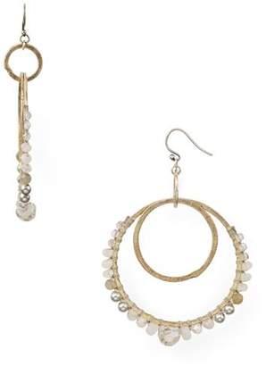 Chan Luu Double Loop Drop Earrings
