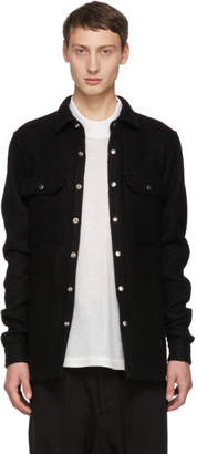 Rick Owens Black Outershirt Jacket