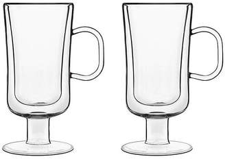 Luigi Bormioli Set of 2 Fiori Coffee Mugs - Clear