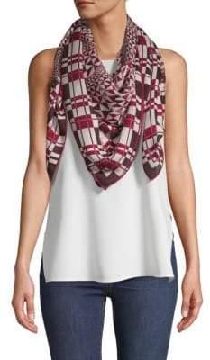 Loro Piana Printed Cashmere & Silk-Blend Scarf