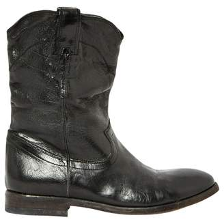 Paul Smith Black Leather Ankle boots