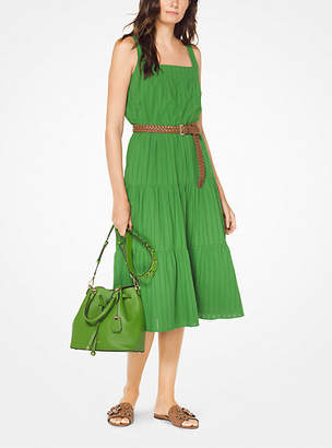 Michael Kors Tiered Eyelet Cotton Dress