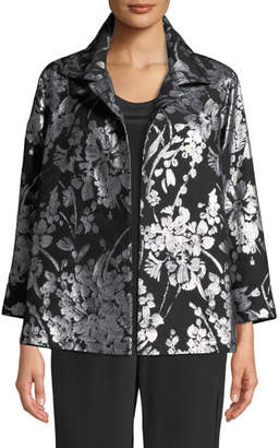 Caroline Rose Make An Entrance Floral Jacquard Jacket, Plus Size