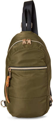 Urban Expressions Olive Score Nylon Vegan Sling Backpack