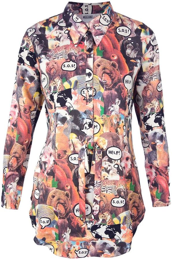 Moschino Vintage animal print blouse