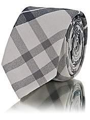 Thom Browne Men's Plaid Wool-Blend Necktie - Gray