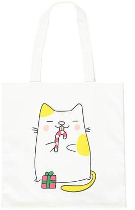 Forever 21 Holiday Cat Tote Bag