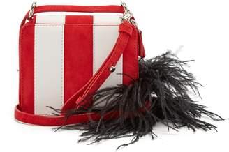 Marques Almeida MARQUES'ALMEIDA Feather strap striped leather cross-body bag