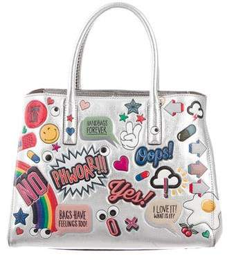 Anya Hindmarch Ebury Small II All Over Wink Stickers Tote