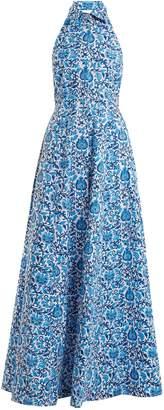 REBECCA DE RAVENEL Fortuna floral-print button-down dress