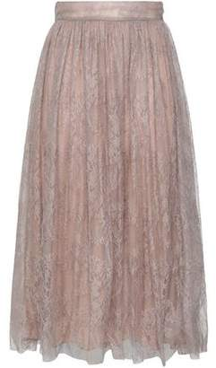 Valentino Silk Chantilly Lace Midi Skirt