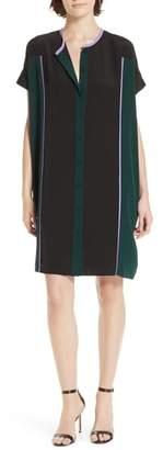 Diane von Furstenberg Colorblock Silk Shirtdress