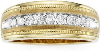 JCPenney MODERN BRIDE Mens 1/2 CT. T.W. Diamond 10K Yellow Gold Milgrain Ring