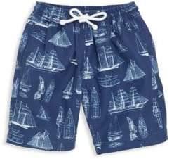 Oscar de la Renta Little Boy's & Boy's Vintage Admiral Swim Shorts