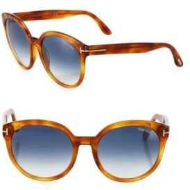 Tom Ford Philippa 55MM Oversized Round Sunglasses