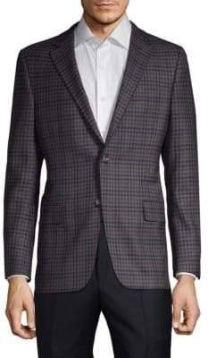Hickey Freeman Plaid Wool Sportcoat