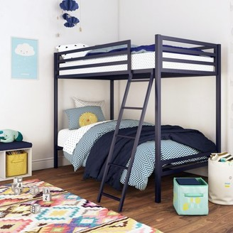 Mainstays Premium Twin Over Twin Metal Bunk Bed, Multiple Colors
