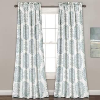 Beachcrest Home Heron Nature/Floral Room Darkening Rod Pocket Curtain Panels