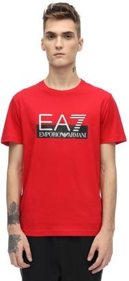 Emporio Armani Ea7 Train Visibility Cotton Jersey T-shirt