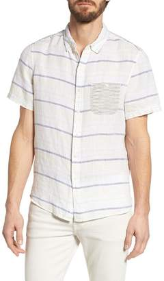 Michael Bastian Stripe Linen Sport Shirt