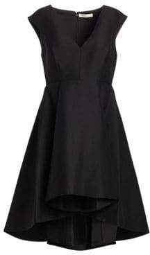 Halston Cap Sleeve Hi-Lo Dress
