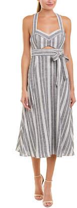 BCBGMAXAZRIA Tie-Waist Midi Dress