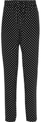Markus Lupfer Printed Silk Crepe De Chine Tapered Pants