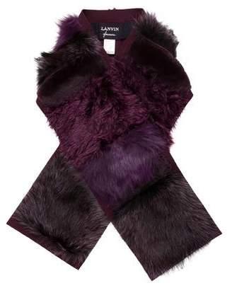 Lanvin Mixed Fur Stole