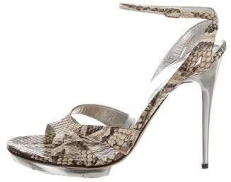Dolce & Gabbana Python Ankle Strap Sandals