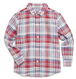 Vineyard Vines Little Boy's & Boy's Firework Plaid Shirt