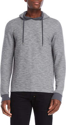 Ike Behar Grey Thermal Hoodie