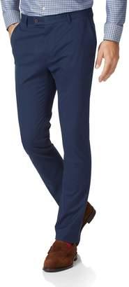 Charles Tyrwhitt Dark Blue Extra Slim Fit Stretch Cotton Chino Pants Size W30 L30