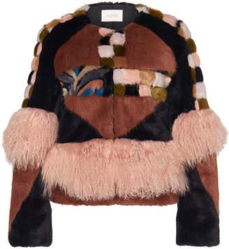 Alexis Kotto Patchwork Mongolian Fur Coat