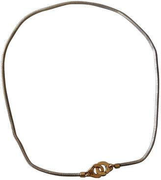 Dinh Van Menottes silver necklace
