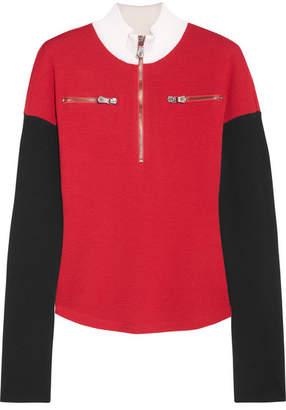 Versace Color-block Wool Turtleneck Sweater - Red