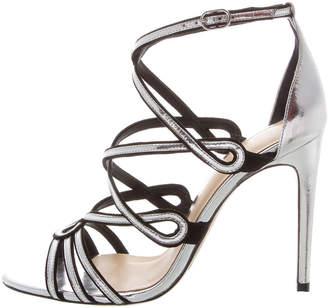 Alexandre Birman Shanty Metallic Ankle Sandals