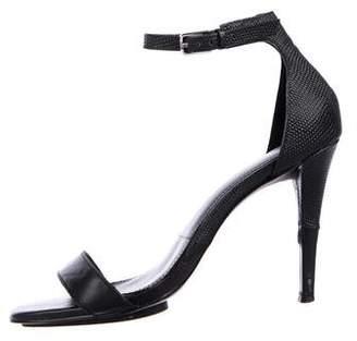 Calvin Klein Embossed Ankle Strap Sandals