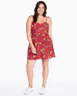 Express Floral V-Wire Cami Mini Dress