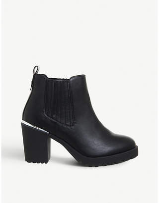 Office Agile chunky-heeled leather Chelsea boots