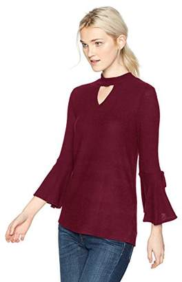 Amy Byer A. Byer Bell Sleeve Choker Knit Top (Junior's)