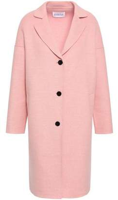 Claudie Pierlot Galva Wool And Silk-blend Felt Coat