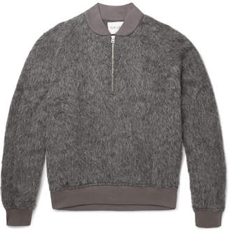 Our Legacy Textured Knitted Half-Zip Sweater